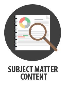Subject Matter Content writing